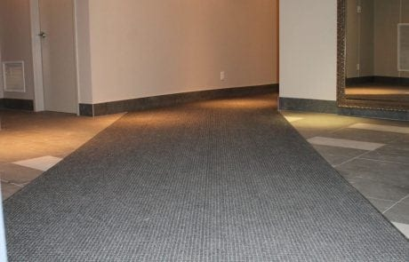 Interior view of entrance matting at Patricia Avenue