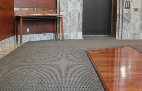 Interior view of entrance matting at The Saint George Ottawa
