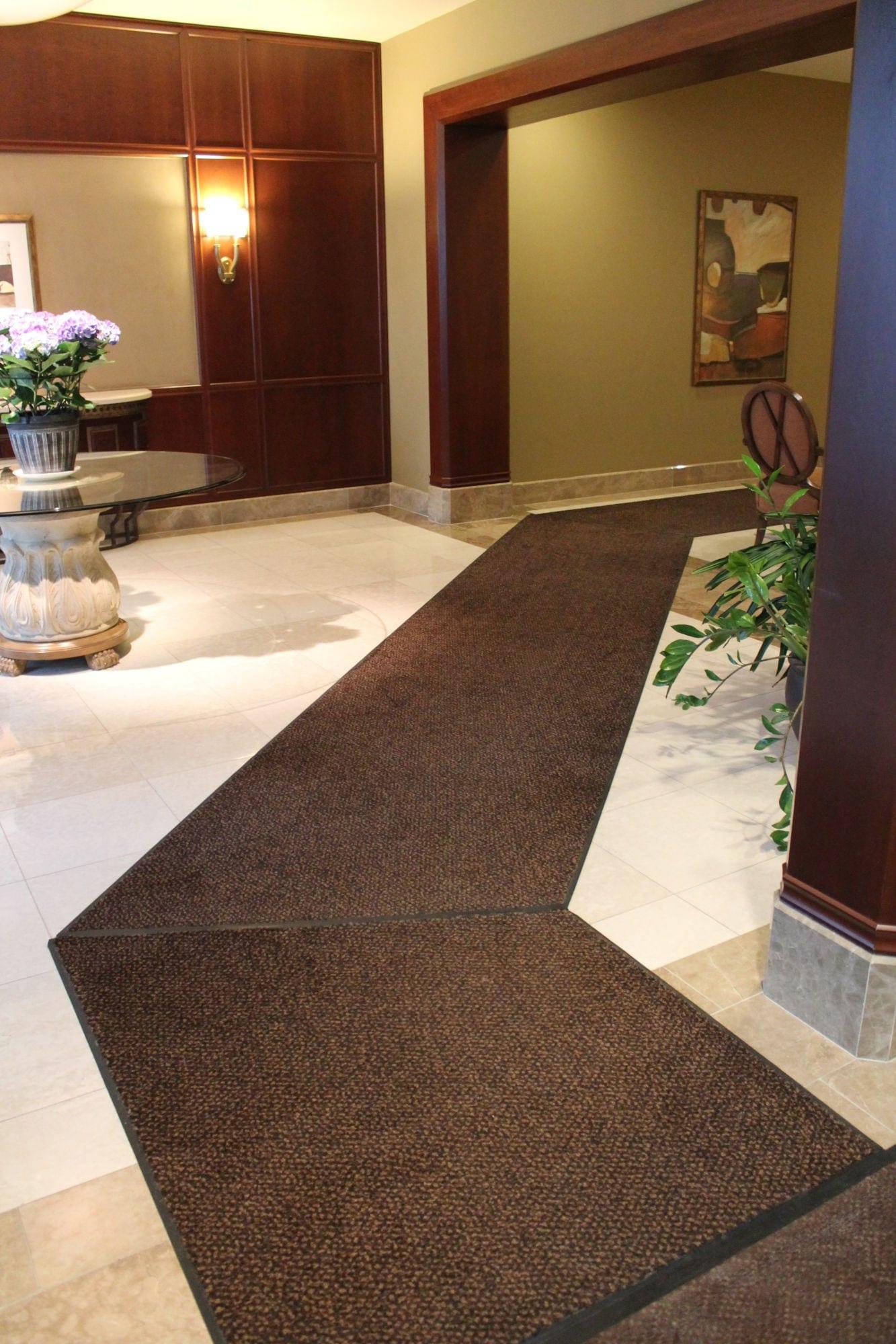 Interior view of entrance matting at Rivergate Way